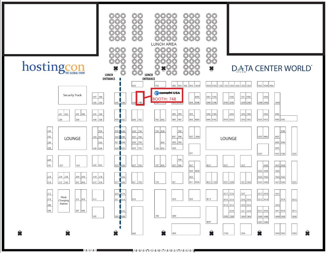Comefri data center world exhibition 2017 for Data center floor plan